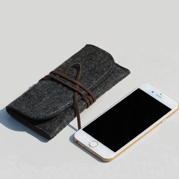 批发订制新款苹果iphone6 5s 6 plus保护套羊毛毡手机套内胆包