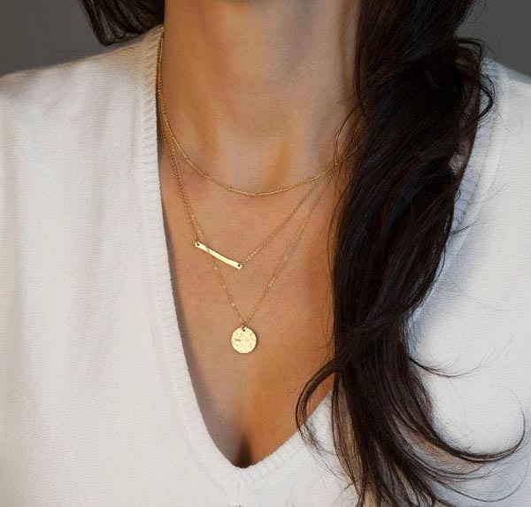Fashion Alloy Plating NecklaceGeometric (Gold)NHCT0150-Gold