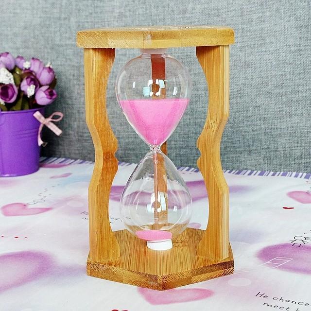 精致礼品 计时竹子15 10 5 分钟沙漏可选w407创意礼品 竹子沙漏