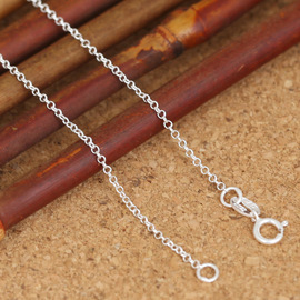 S925 sterling silver fashion jewelry Japan and South Korea refined silver female models delicate and simple wild small new necklace