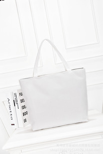 2021 new fashion simple Korean canvas bag white hand-painted large cloth bag can be customized for sale by LOOG manufacturers