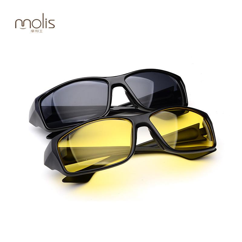运动男士太阳镜速卖通骑行夜视镜黄片司机夜间驾驶镜厂家直销