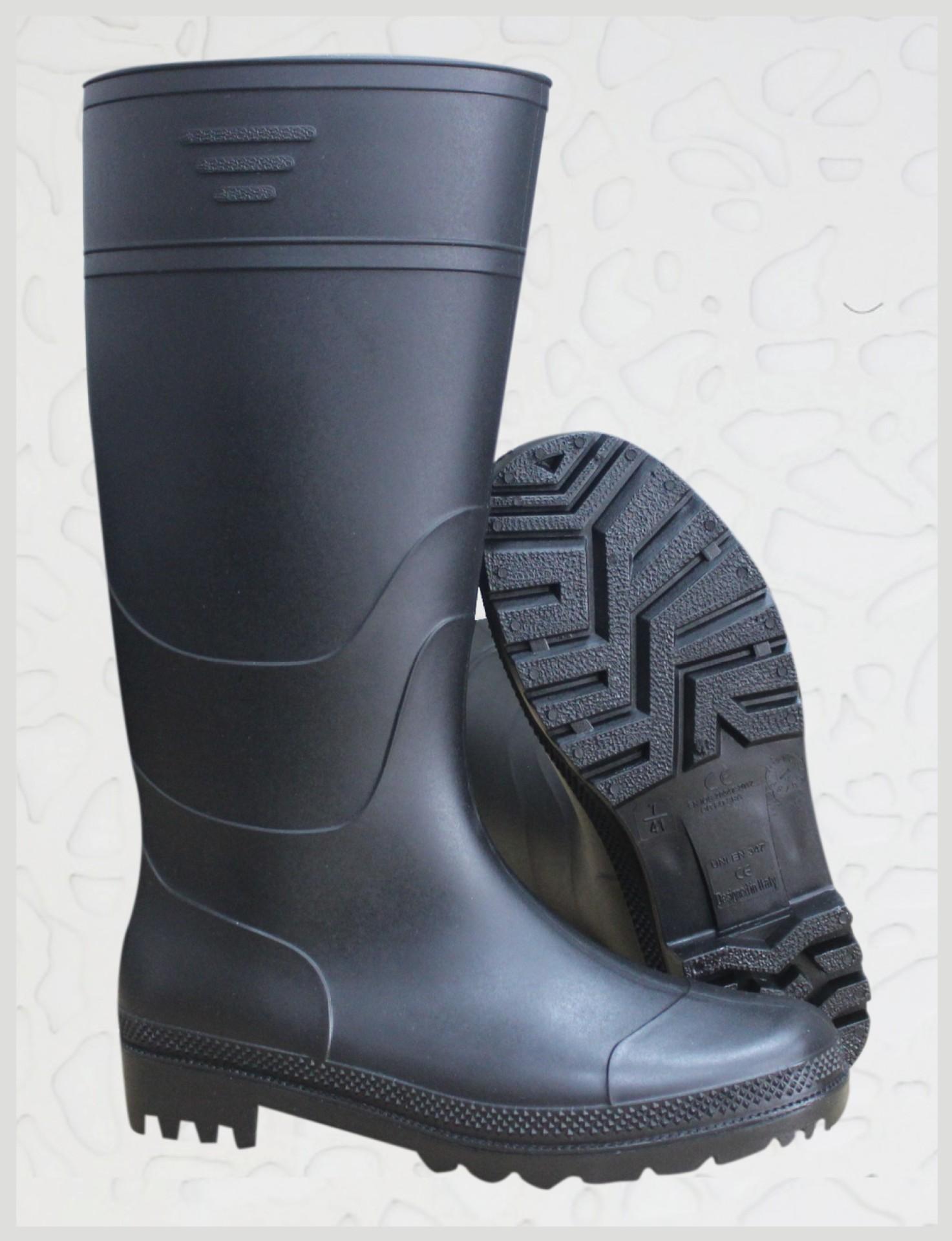 厂家直供PVC雨鞋工作雨鞋耐磨耐穿防弱酸弱碱畅销雨鞋