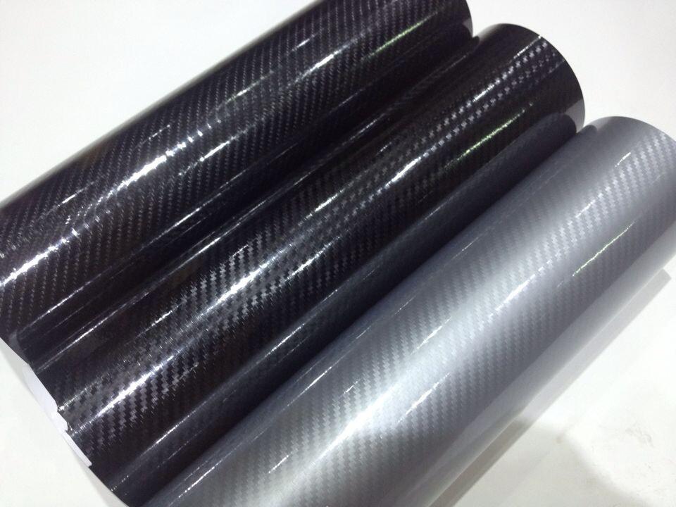 厂家供应新款5D亮光碳纤维改色膜 黑色高光面汽车内外装饰膜