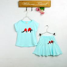 童裝清倉 小清新夏季套裝 女童可愛印花裙套裝 廠價直銷一件代發
