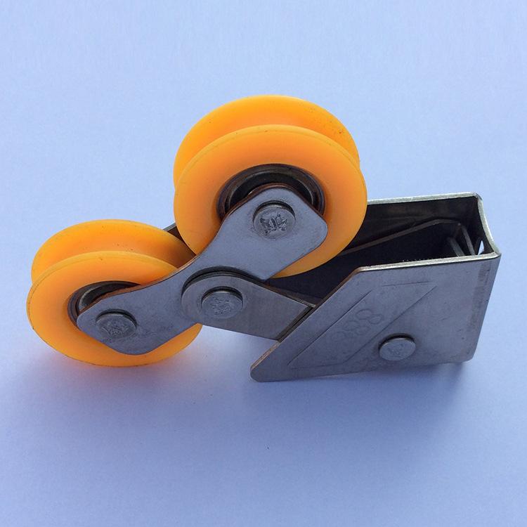 塑料门窗配件 移门尼龙塑料滑轮 铝合金门窗滑轮 厂家批发