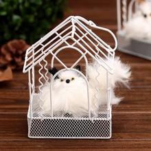 仿真中号猫咪玩具 声控鸟窝造型仿动物发声 学生礼品宠物礼物批发