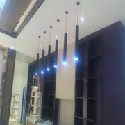led圆柱形吊灯酒店大堂 工业风美式水管个性餐厅床头单头小射灯