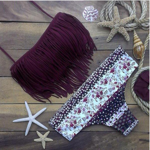 Cotton FashionBikini(Purple-S) NHXJ0005-Purple-S