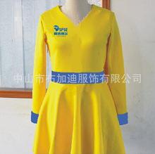 促销服女冬季长袖超市促销服装定制食品饮料促销服女