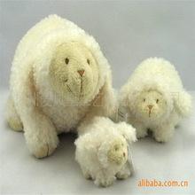毛绒站姿卡通羊 毛绒玩具羊-毛绒玩具、柔软材料-绵羊玩偶