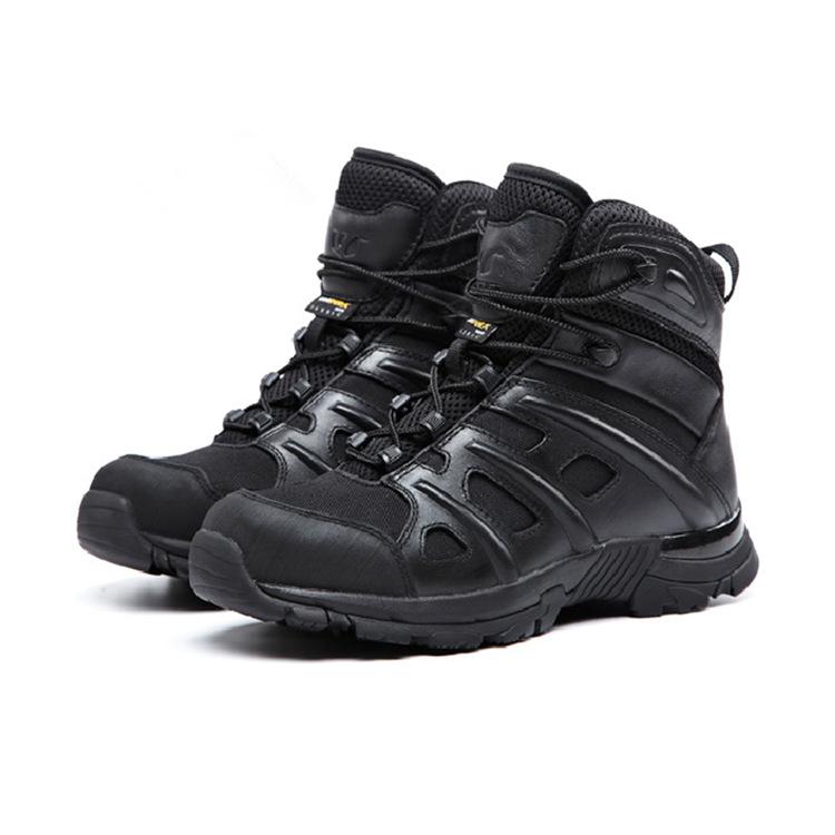 广州狼奴户外 防刺穿爬山登山鞋 U奈特战术防刺军靴(6寸低帮)