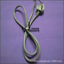 国标三角插头/蛇头1.5米3*0.75灰白色单头电源线 插头线平方直销