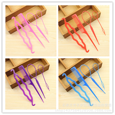 Dispenser Wholesale Korean Version Dispense Four-piece Pull-up Needle-Disk Hair-Comb Set New Type One to Multivariate Distribution