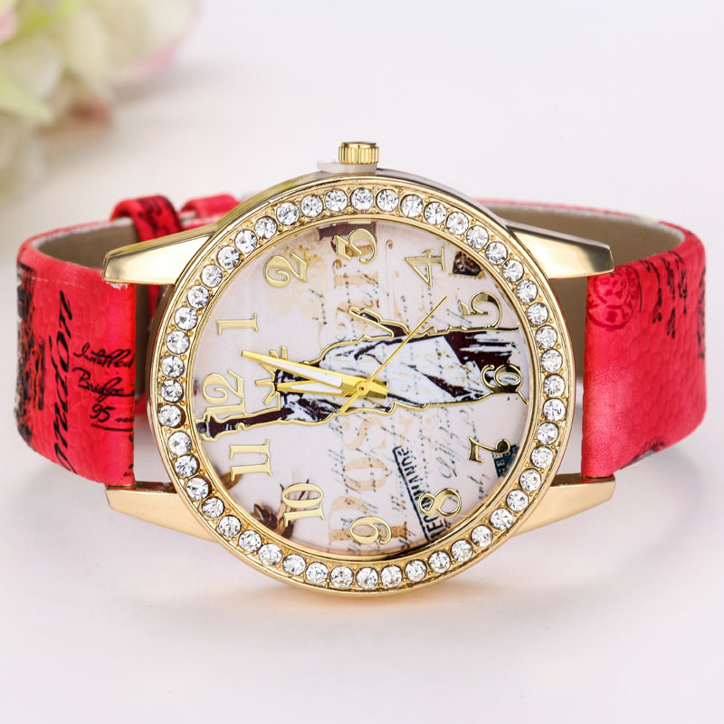 fashion Ordinary glass mirrorLadies watch (4 - white)NHMM1993-4 - white