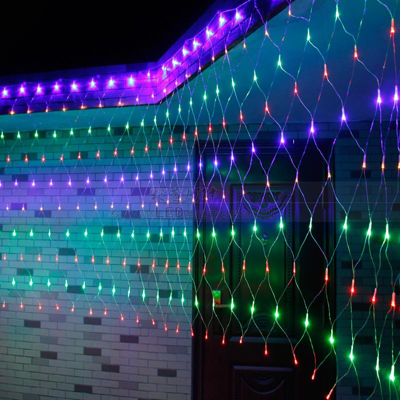 厂家直销LED灯批发 蓝色led网灯定制 广场庭院商场节日装饰灯