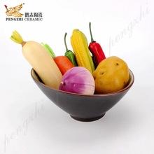 創意水果沙拉陶瓷碗 8寸9寸日式韓式斜口陶瓷碗 個性可愛陶瓷碗