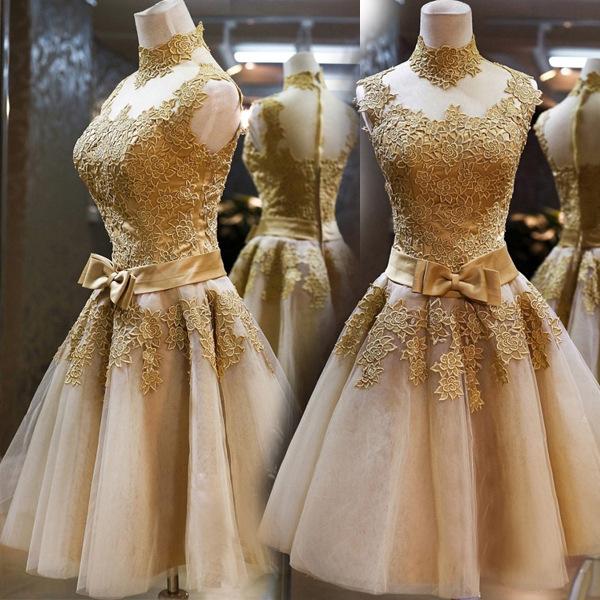 [【订货】蕾丝短款晚宴宴会年会主持人婚纱晚装小礼服2015新款