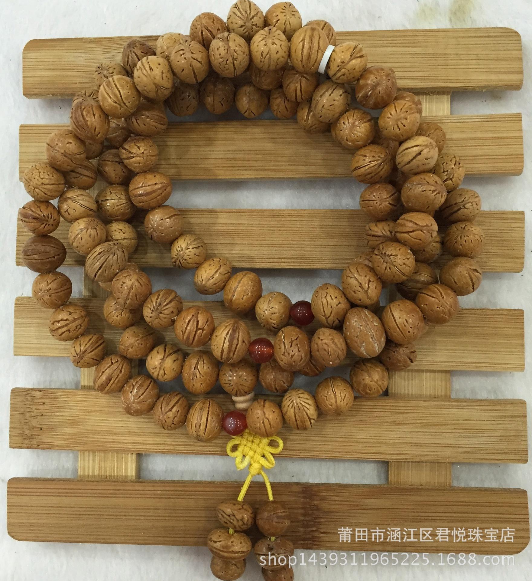 纯天然藏式丹凤眼手串 108颗佛珠手链