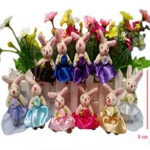 淑女款婚纱兔关节兔 毛绒玩具韩版兔公仔发箍发卡头箍发夹 配件