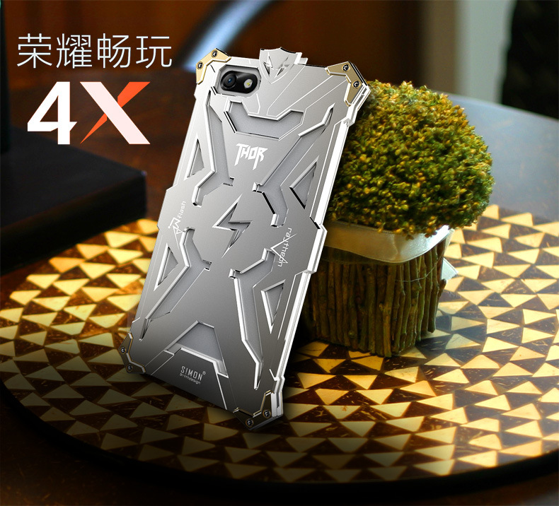 SIMON THOR Aviation Aluminum Alloy Shockproof Armor Metal Case Cover for Huawei Honor 4X