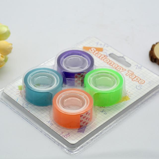 厂家批发 彩色透明胶带 彩虹胶带 学生文具 装饰