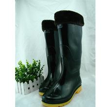 劳保雨靴男款高筒雨鞋加棉绒加厚保暖皮口牛筋防水劳保雨靴套鞋