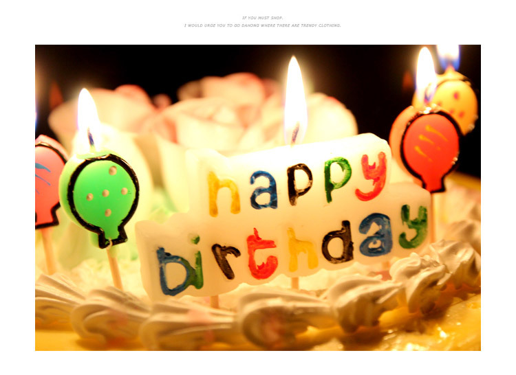 Birthday Candle Kids Gift Ideal Happy Birthday Letters Candle