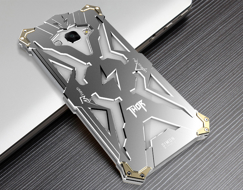 SIMON THOR Aviation Aluminum Alloy Shockproof Armor Metal Case Cover for Samsung Galaxy A8 A8000