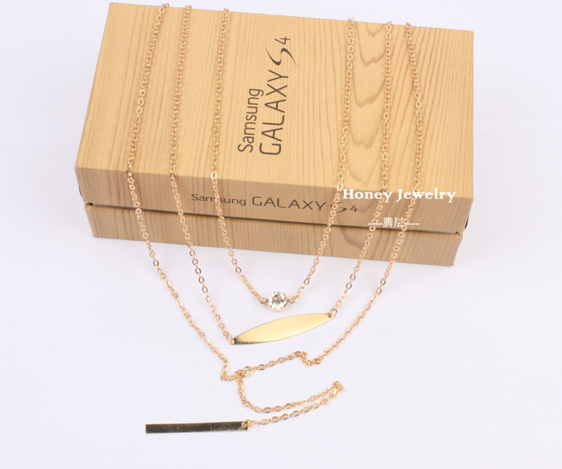 Fashion Crystal CZNecklaceGeometric (Gold)NHCT0148-Gold