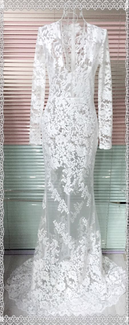 Lace Fashiondress(White-S) NHDF0204-White-S