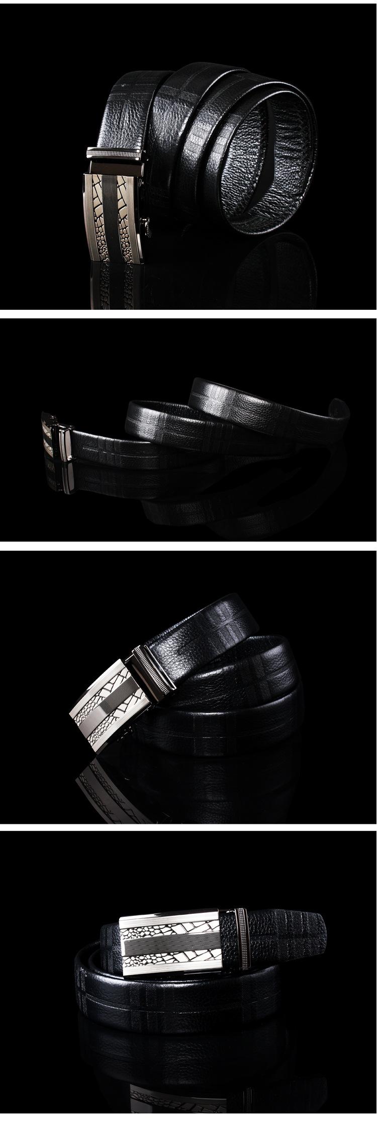 Real leather belt for men