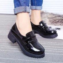 JK日本学院风女中学生小黑皮鞋COS动漫play圆头女仆制服单鞋