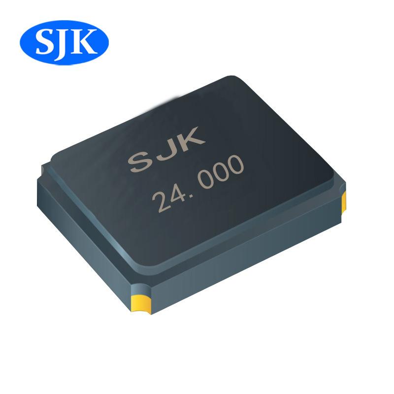SJK廠家直銷smd3225 24MHz塑料glass封裝 石英晶體振蕩器價格另議