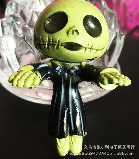 创意骷髅批发森林幽灵挂件手机骷髅头鬼脸钥匙扣麦克僵尸儿童玩具