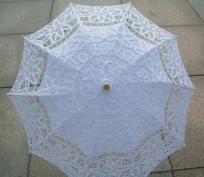 厂家直销 婚礼花边伞批发48cm手工棉线l蕾丝工艺伞定制防晒太阳伞
