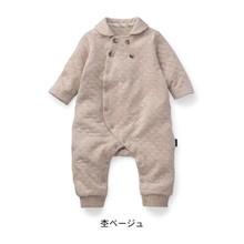 日单新款千趣家棉质舒适空气层爬服 长袖宝宝连体衣保暖爬服