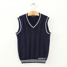 純棉背心毛織女裝毛衣加工廠來版來圖定制 日韓各式學生毛衣定做