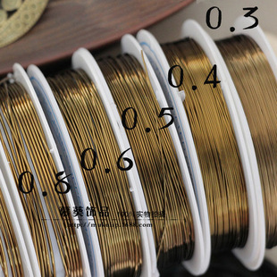 DIY jewelry accessories copper wire green bronze molding line factory direct sales
