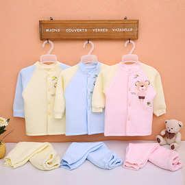2015秋冬保暖新款纯棉宝宝内衣套装婴儿衣服家居服长袖小孩服装