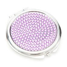贈品禮品鏡子 高檔按鈕貼鉆化妝鏡150003