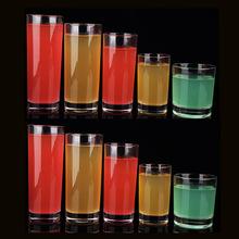 时尚透明耐热玻璃杯 饮料杯子 水杯果汁杯圆形直身透明杯