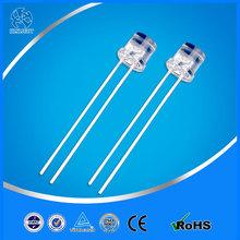 廠家貨源 批發高亮F5平頭有邊長腳燈珠白發黃光LED發光二極管