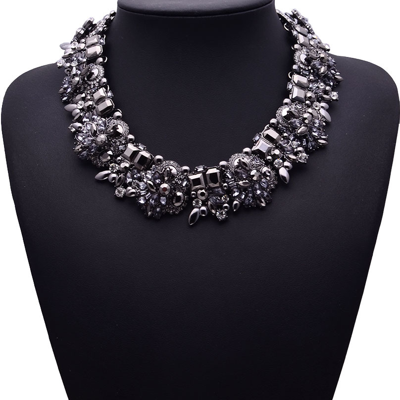 Necklace handmade diamond accessories women necklace clavicle chain jewelry wholesale black NHJQ182956