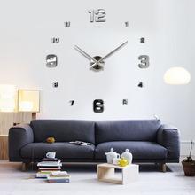 客廳鐘表創意時鐘亞馬遜簡約北歐掛鐘歐美大DIY墻貼時鐘3Dclock