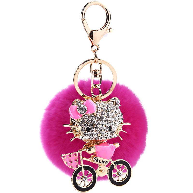 fashion Zinc Alloy Keychain ( Pink ) NHMM0924