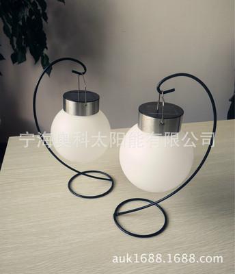 太阳能圆球灯AK-5023Q LED别墅景观装饰灯 防水感光挂式/台式灯