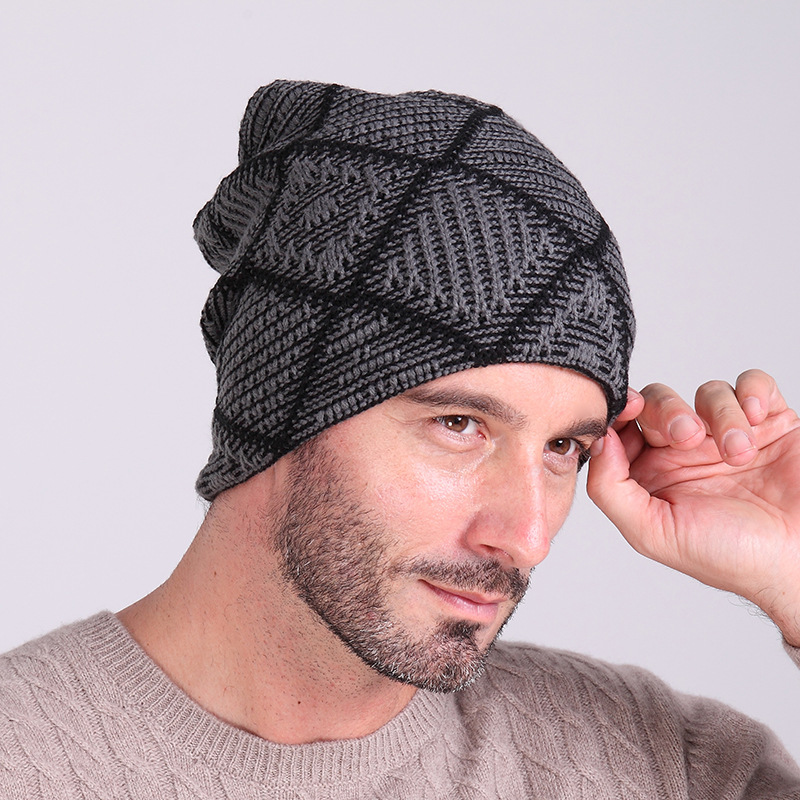 Camping Wool hat men sets winter hat Beanie Baggy Warm knitted hat ... a92acb686da