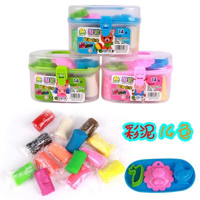 手工玩具 14色彩泥 375 橡皮泥 义乌厂家批发 地摊热卖玩具