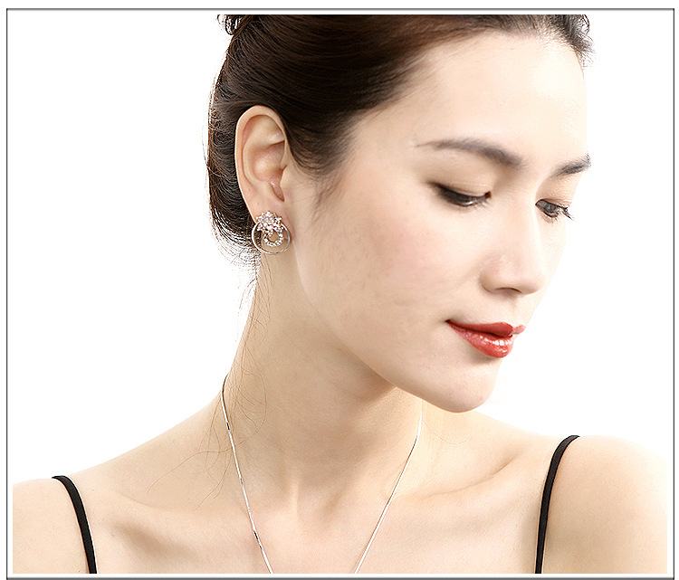 Alloy Korea Flowers earring  (White K) NHTF0196-White-K